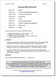 DOWNLOAD Sample Daily Schedule