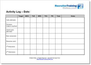 weekly activity log