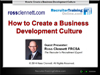 WEBINAR: How to Create a Business Development Culture